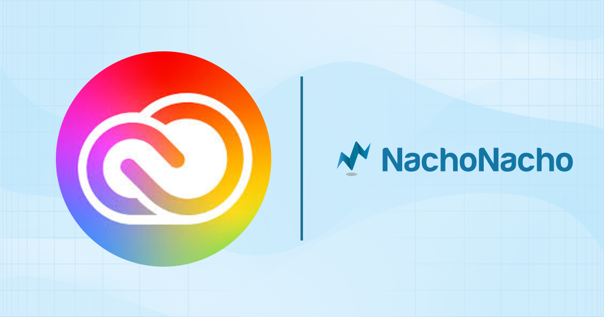 Visual with the NachoNacho and Adobe Creative Cloud logos